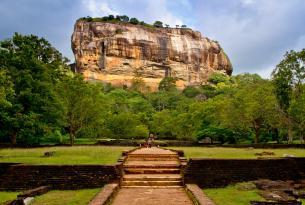 La roca de Sigiriya en Sri Lanka
