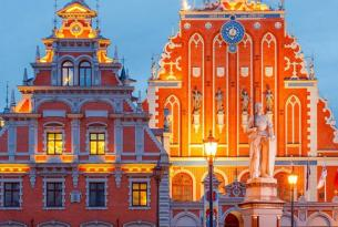 Países bálticos a tu aire en coche de alquiler 14 días