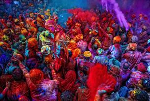 Fiesta del Holi en India (con guía en español y coche privado)