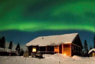 Laponia sueca: trineo de perros y auroras boreales (salida especial puente de San José)