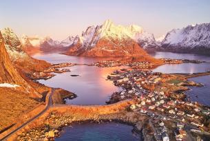 Lofoten y Kiruna en hotel: auroras boreales y trineo de perros en otoño (aventura confort)