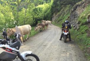 Viaje en moto Transpirenaica de 7 días 6 noches, en moto propia (Trail)