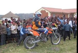 Viaje en moto enduro Sudáfrica, KTM con Alfie Cox