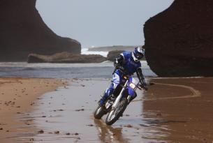 Viaje en moto enduro Mauritania con Kawasaki 450R