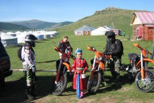 Viaje en moto, Mongolia Lago Blanco y Volcán Khorgo