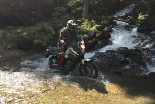 Viaje en moto Portugal en moto trail Yamaha Xt 600 cc 6 días 4 en moto