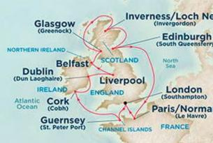 Crucero por las Islas Británicas con guía acompañante